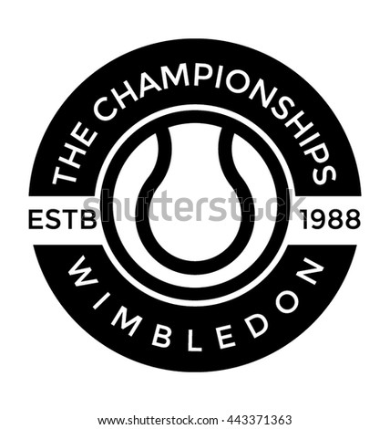 wimbledon championship vector