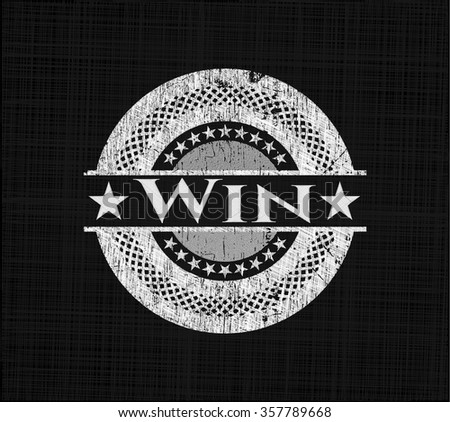 Win chalkboard emblem