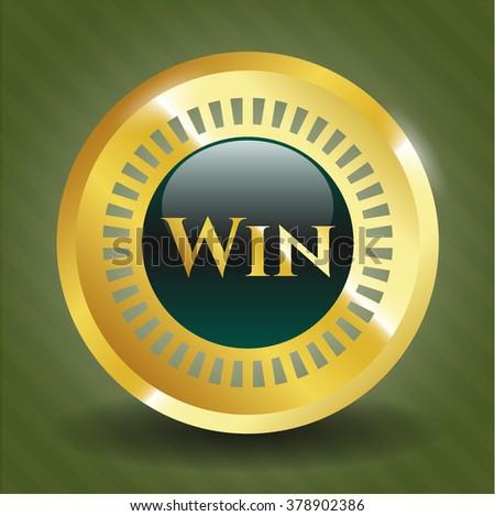 Win golden badge or emblem