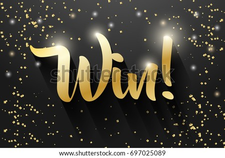 win sign vector banner design