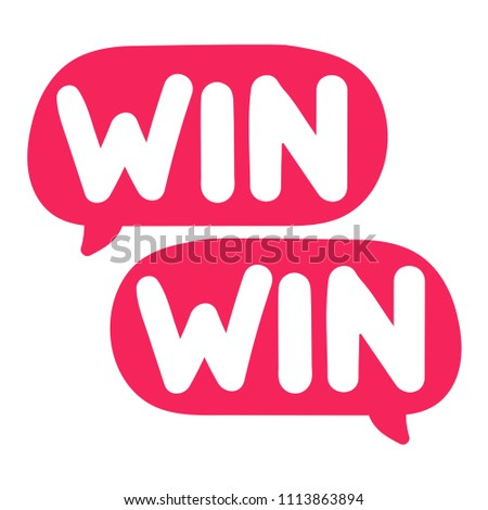 Win-win. Vector illustration on white background.
