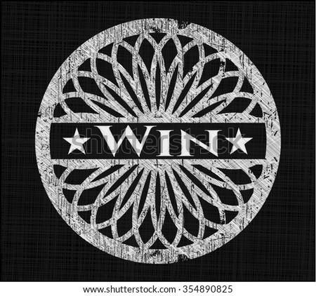 Win written with chalkboard texture