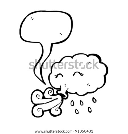 wind blowing cloud cartoon
