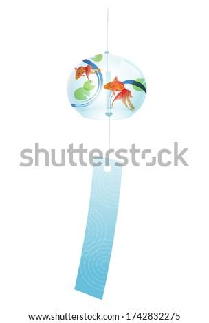 Wind chime goldfish summer icon Stock photo ©