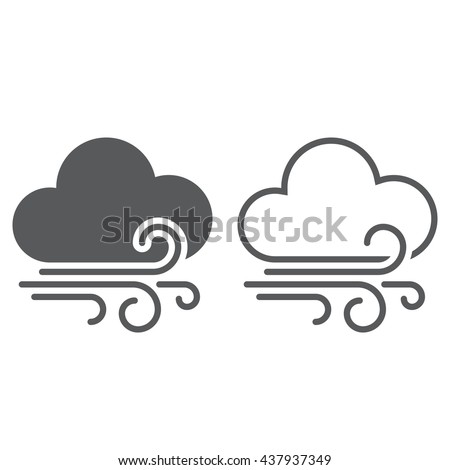 wind clouds Icon
