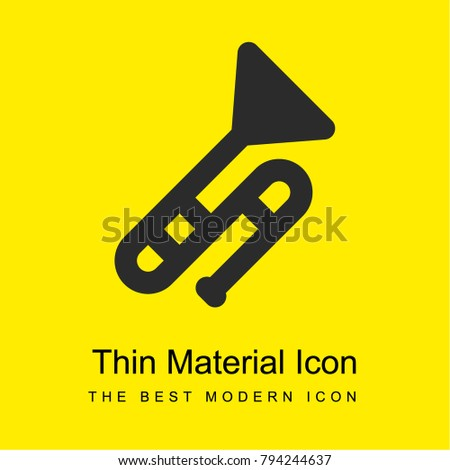 wind instruments bright yellow