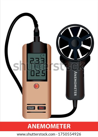 wind meter device.  pressure and lifting force. open air pressure. Windmeter control device. Wind speed meter. Measurement Wind Speed and Pressure Rotate