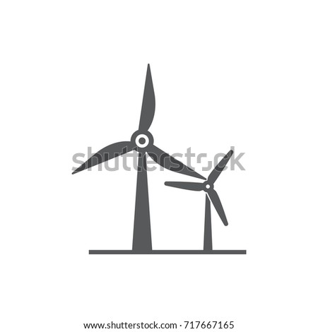 wind power Icon on the white background.