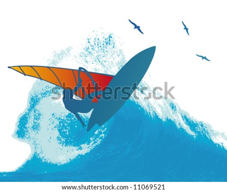 Wind Surfer Wave