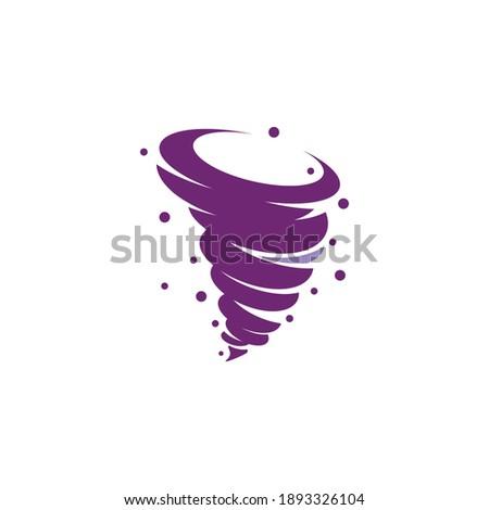 Wind tornado logo vector illustration flat design Foto stock ©