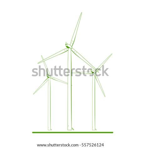 wind tubines onshore farm