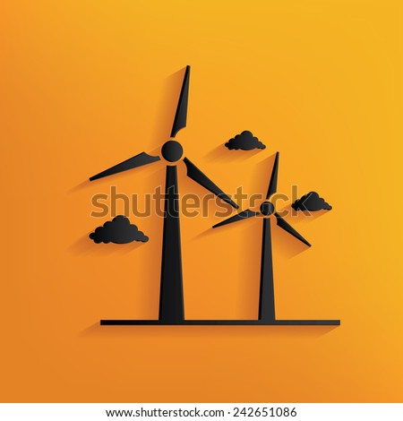 wind turbine design on yellow
