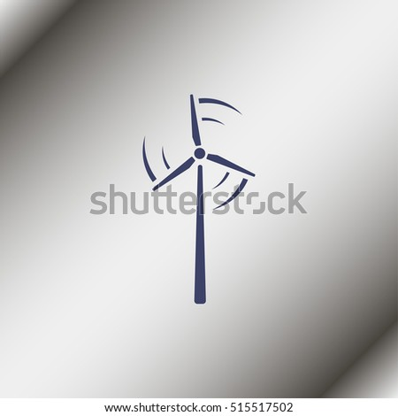 Wind turbine icon.