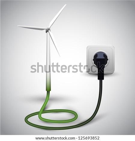 Wind turbine with socket