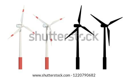 wind turbines set