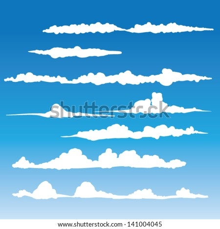 windblown clouds vector