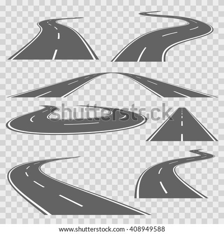 winding curved road or highway