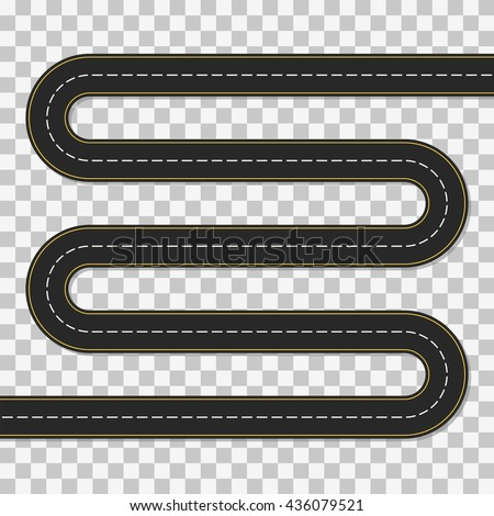 winding road concept a long
