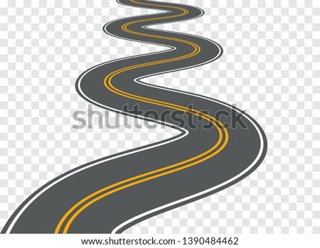 winding road vector highway