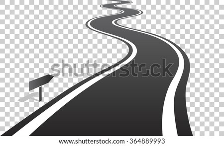 winding road with white lines