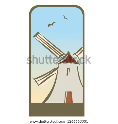 stock-vector-windmill-clipart-vector-cartoon