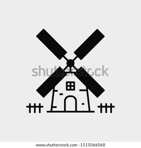 Windmill icon. New trendy windmill vector symbol.