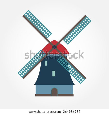 windmill icon or sign isolated