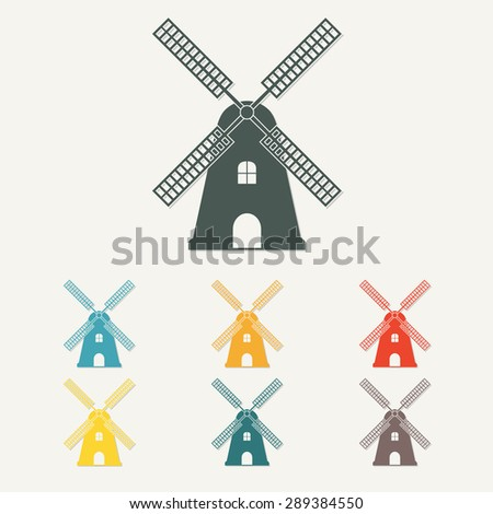 windmill icon or sign mill