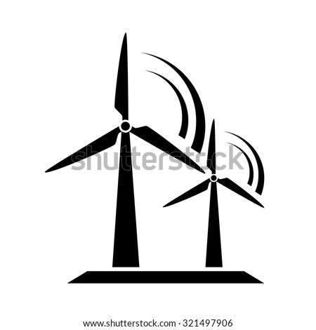 Windmill icon, turbines