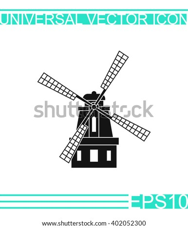 windmill icon vector windmill