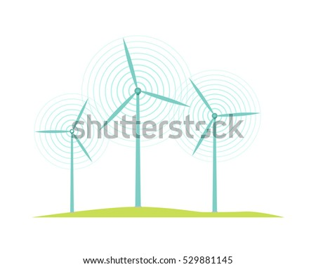windmill icons isolated on