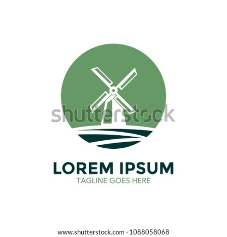 windmill logo icon vector