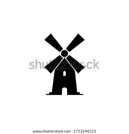 windmill  mill icon  logo