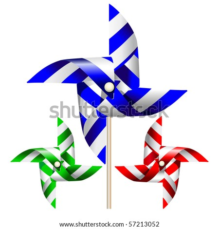 Windmill vector graphic