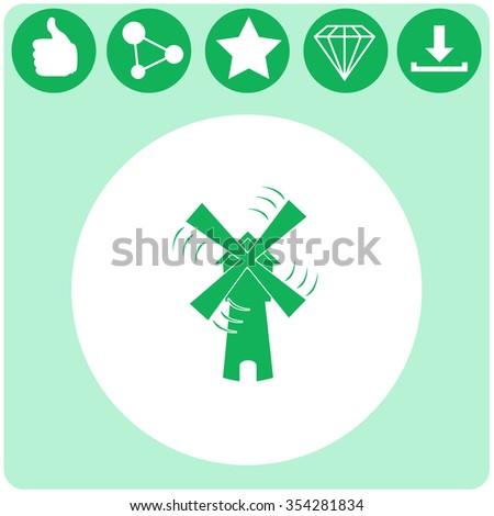 Windmill vector icon. #354281834