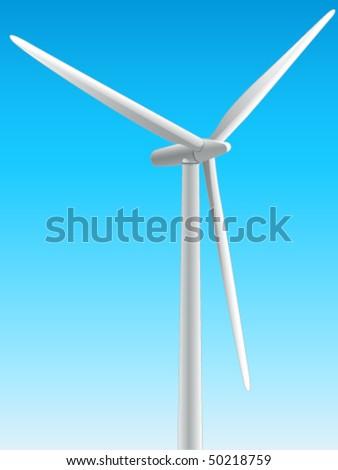 windmill, wind energy - vector illustration