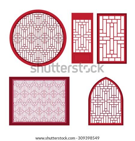 window and door with asian