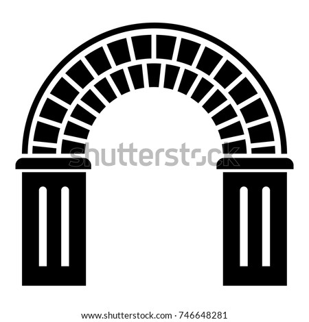 Window arch icon. Simple illustration of window arch vector icon for web