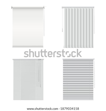 window blinds  closed curtains