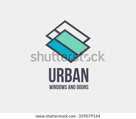 window door logo template