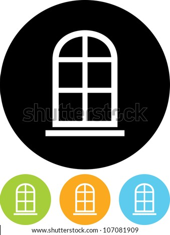 Window frame - Vector icon isolated