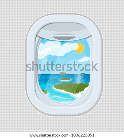 window from inside the airplane