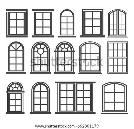 window icon set  vector symbol