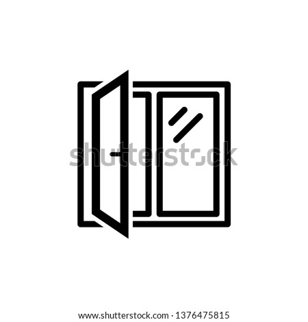 Window icon trendy design template