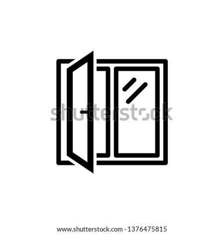 Window icon trendy design template