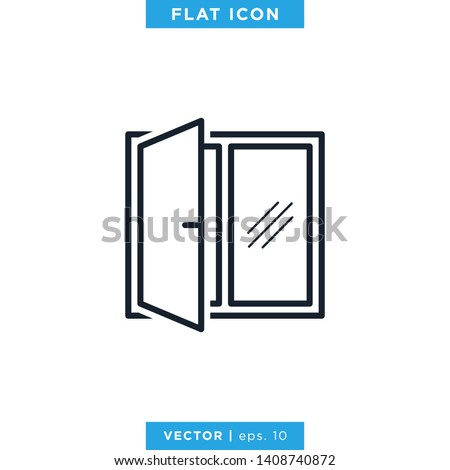 Window Icon Vector Logo Design Template