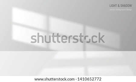 Window light and shadow realistic grey decorative background vector illustration Stockfoto ©