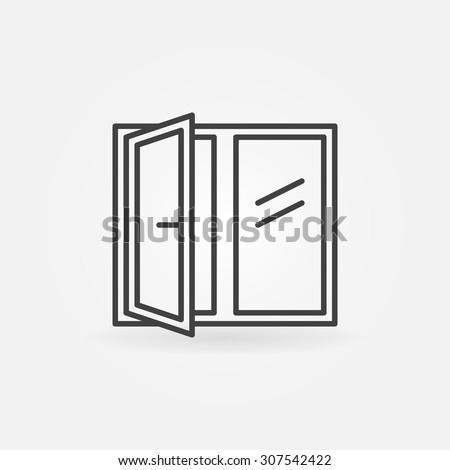 window linear icon   vector
