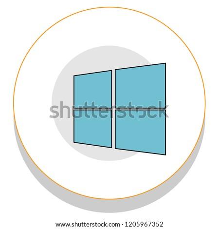 window 8 logo trendy icon on