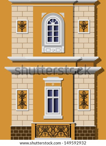 window of a house in the classical style